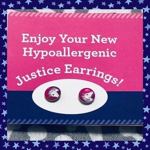 2 for 15🌱Justice Unicorn Stainless Steel Earrings